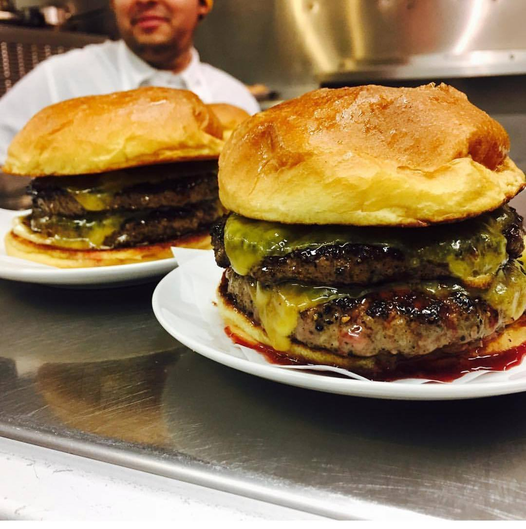 Double Single Burgers at ERB in the Arts District