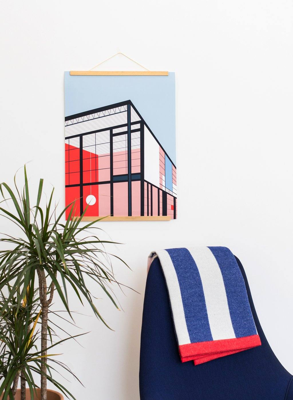Eames House Print Poketo