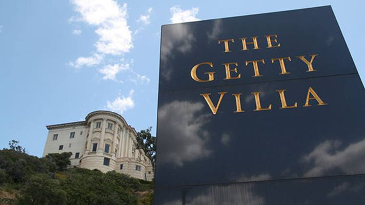 Getty Villa Sign