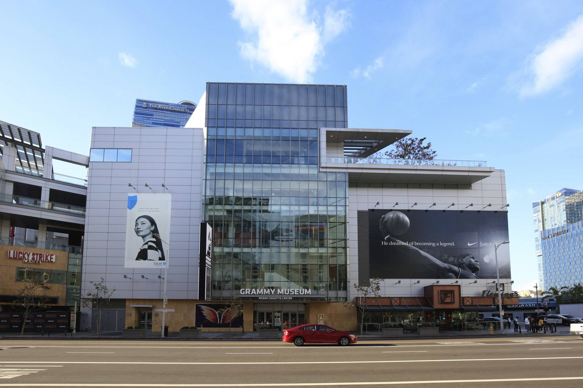 Exterior of the GRAMMY Museum at L.A. LIVE