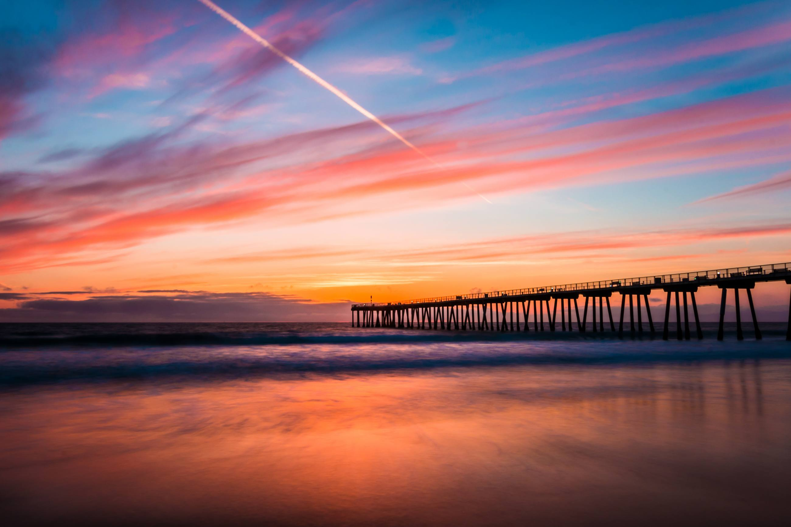 Hermosa Beach Pier at sunset