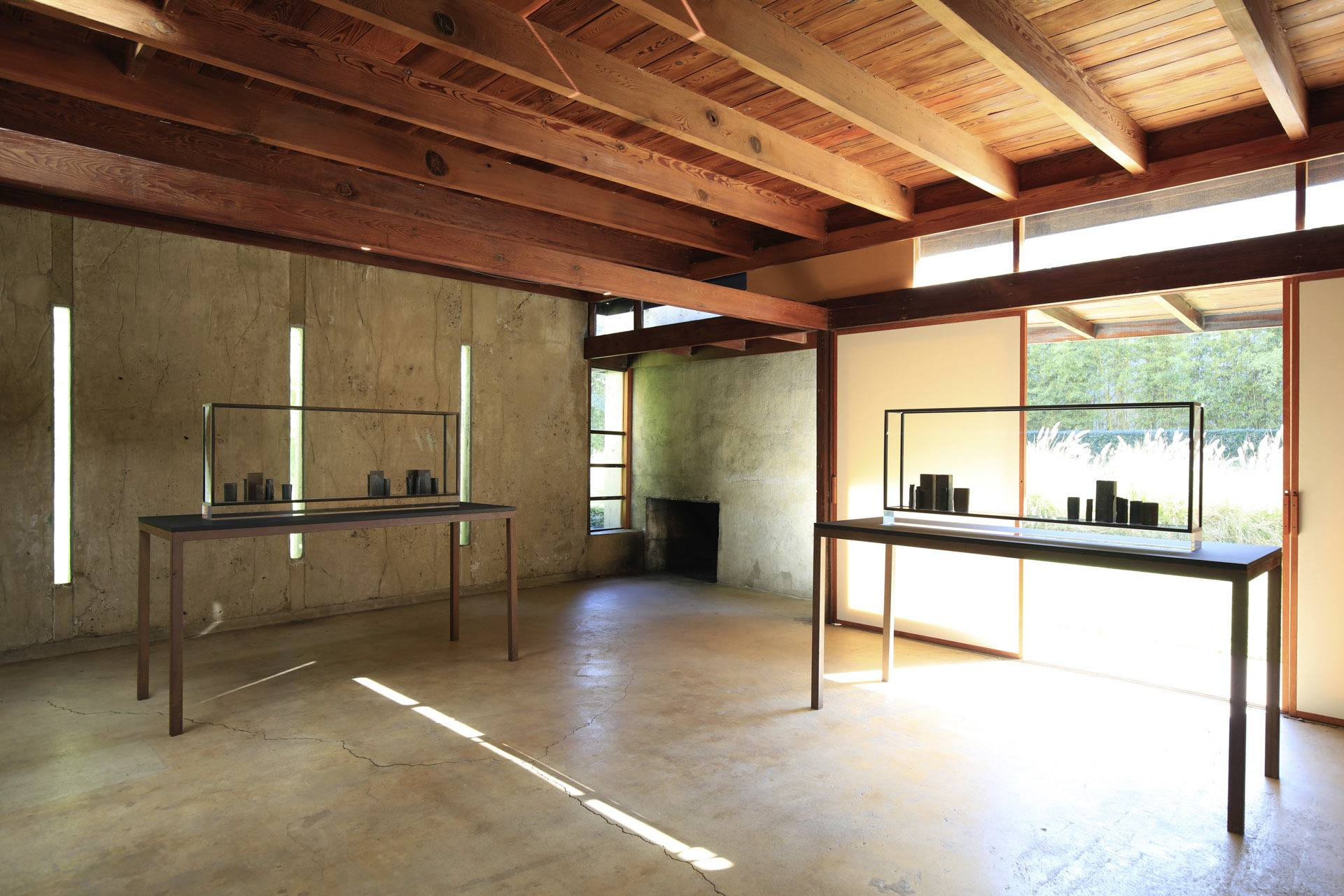 Interior of the Schindler House in West Hollywood