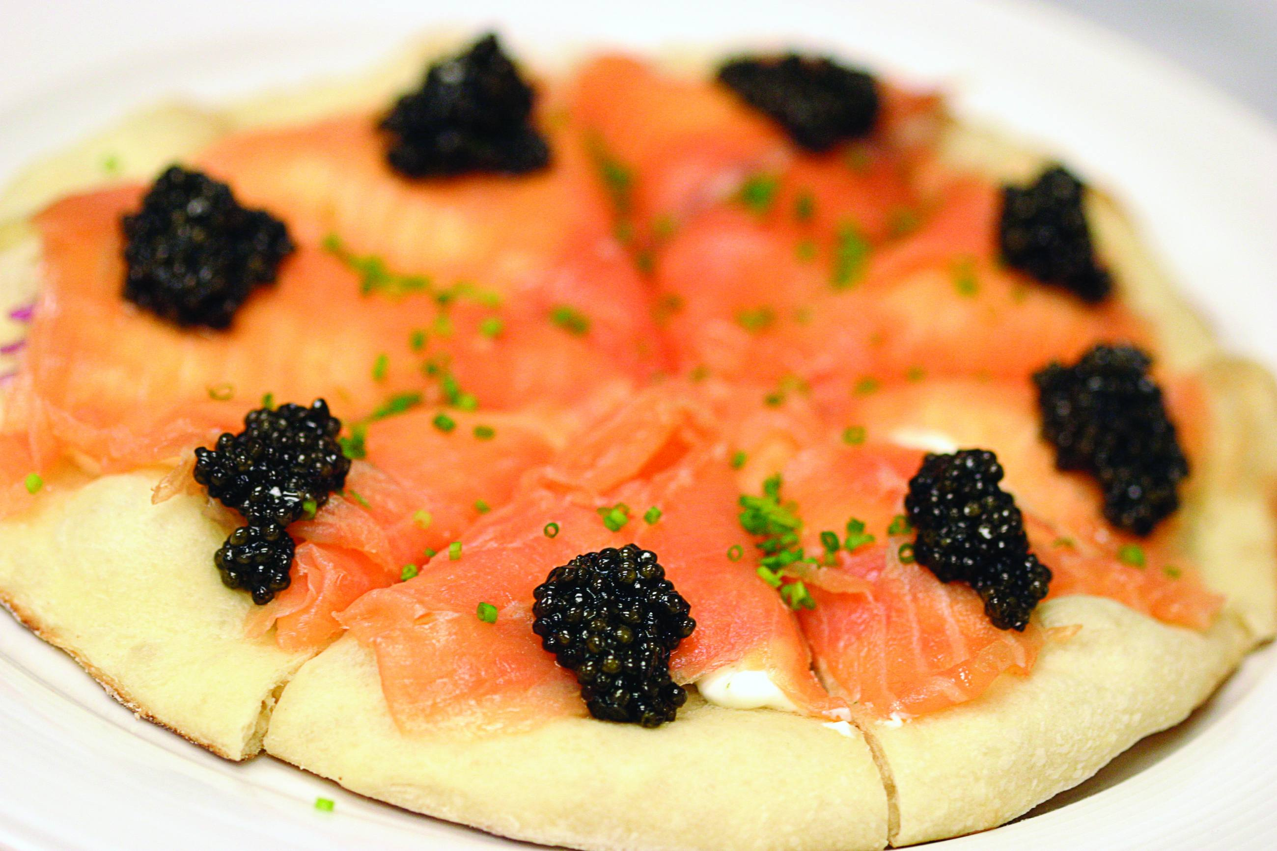 Smoked Salmon Pizza at Spago Beverly Hills | Photo: Wolfgang Puck