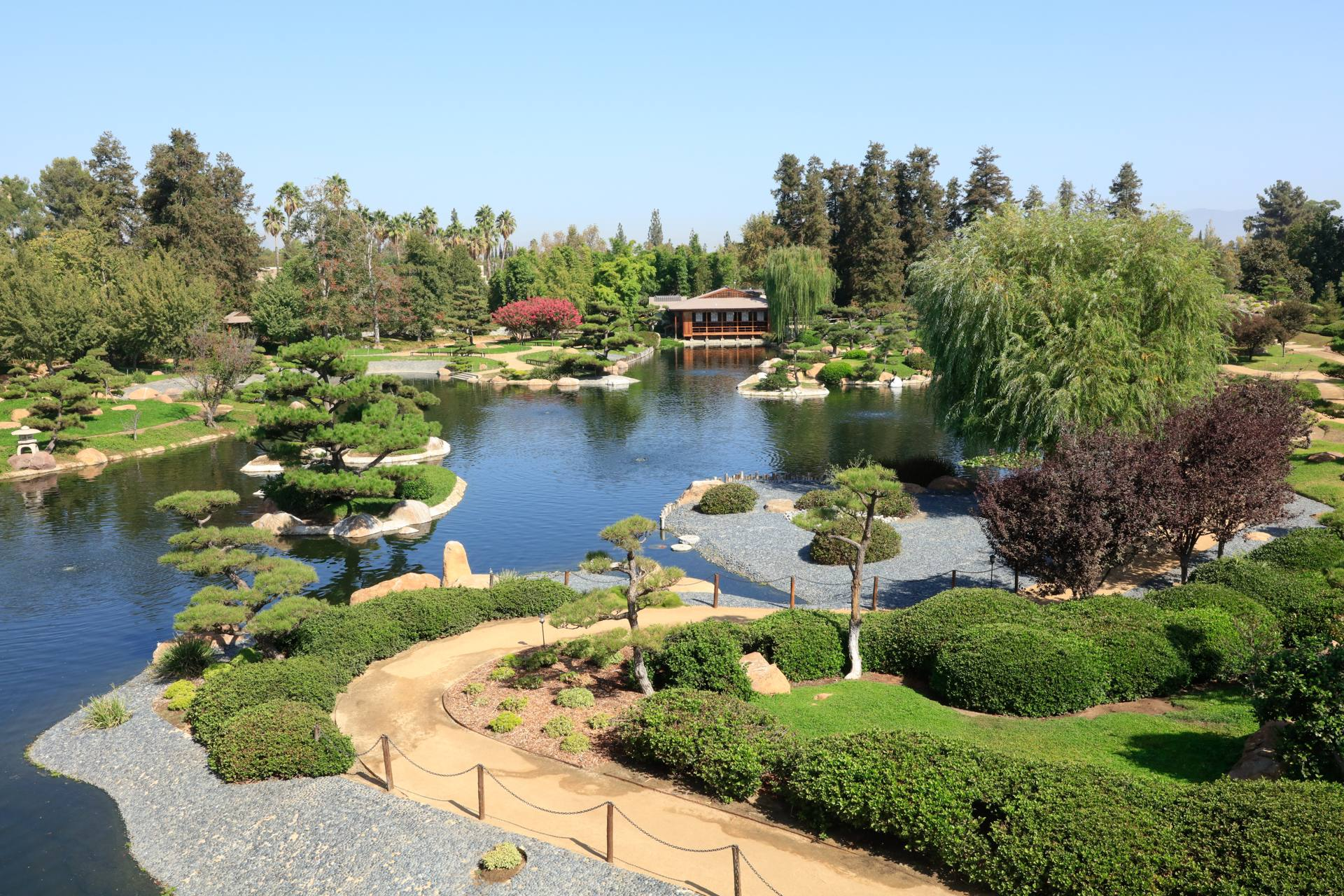 "Lake view at SuihoEn (""Garden of Water and Fragrance"") in Van Nuys"