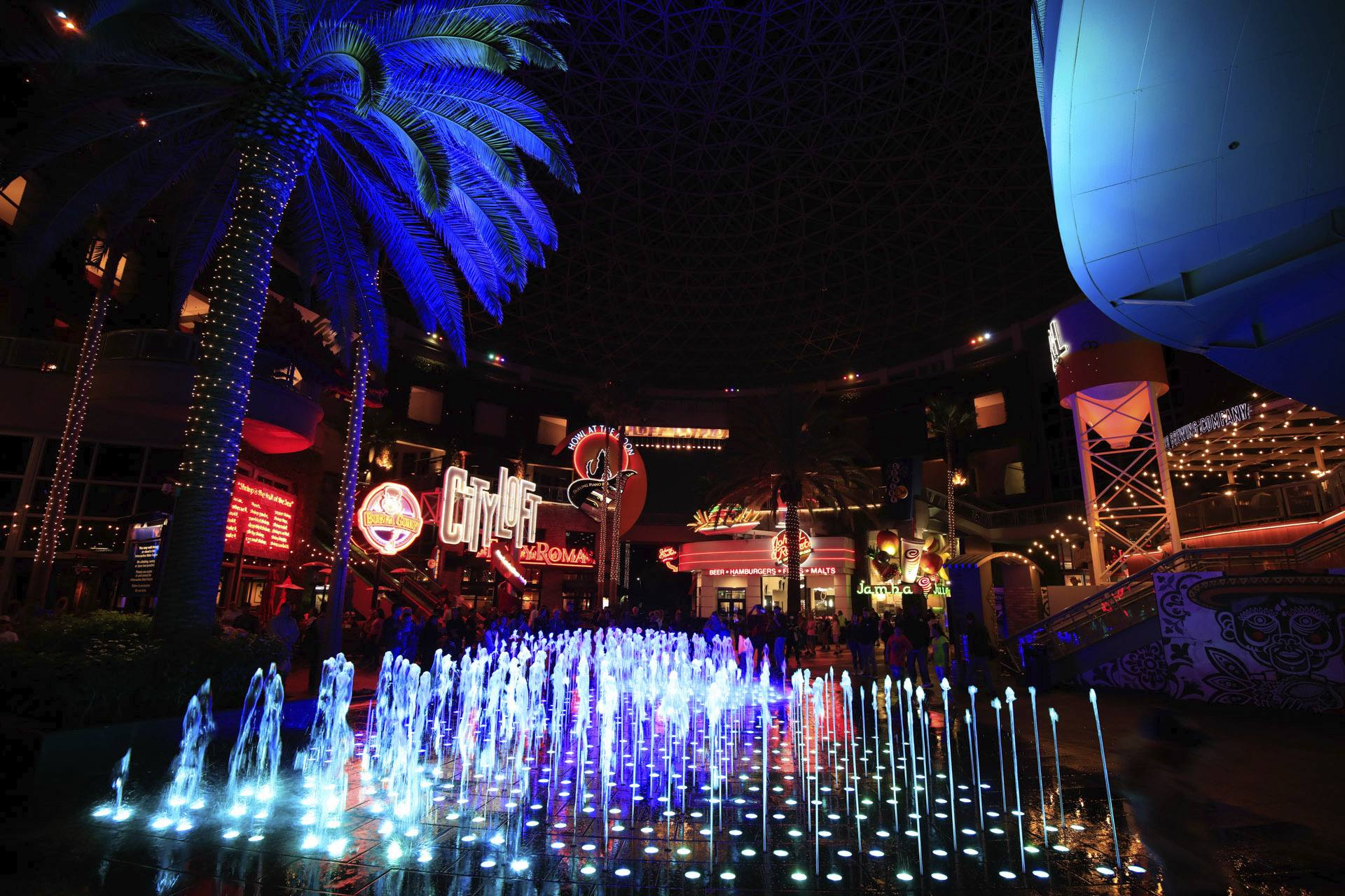 Universal CityWalk at night