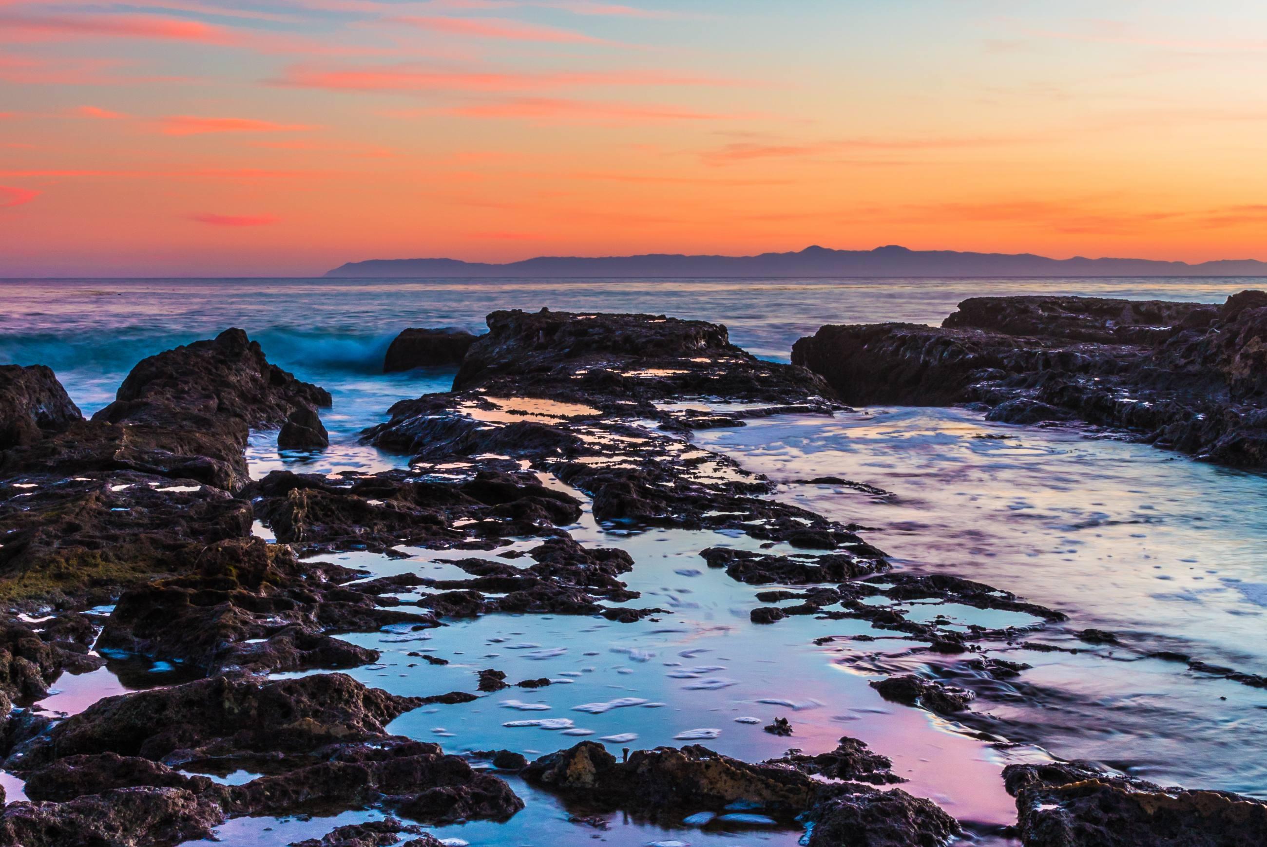 White Point Beach at sunset