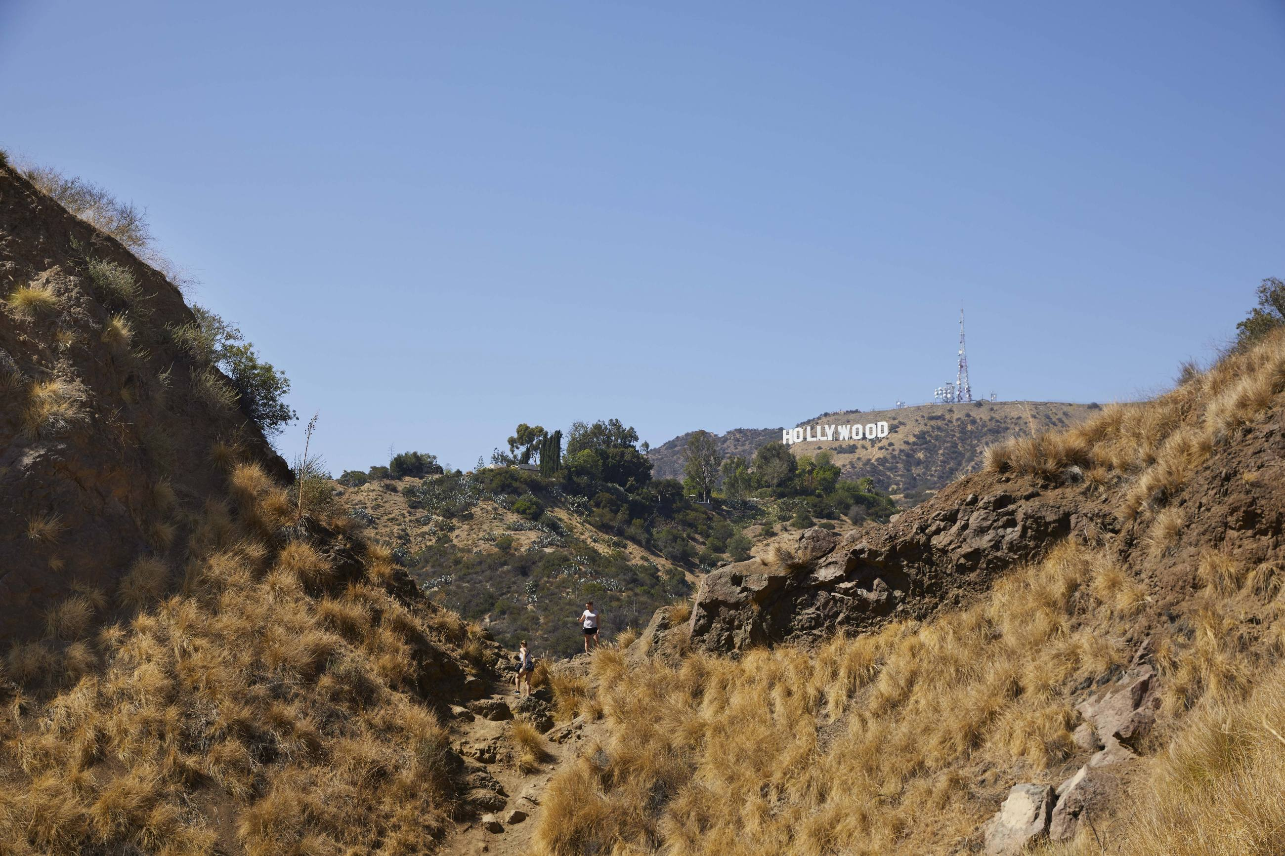 Bronson Canyon Hollywood Sign hikers