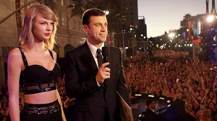Taylor Swift & Jimmy Kimmel en Hollywood Boulevard