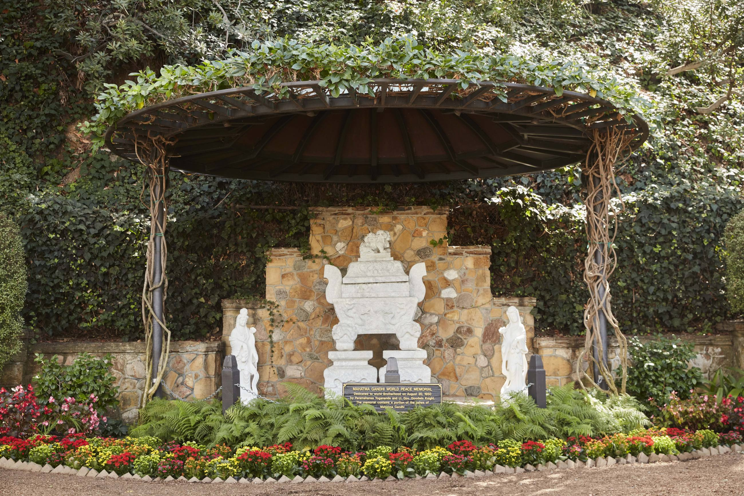 Mahatma Gandhi World Peace Memorial at the Self-Realization Fellowship Lake Shrine