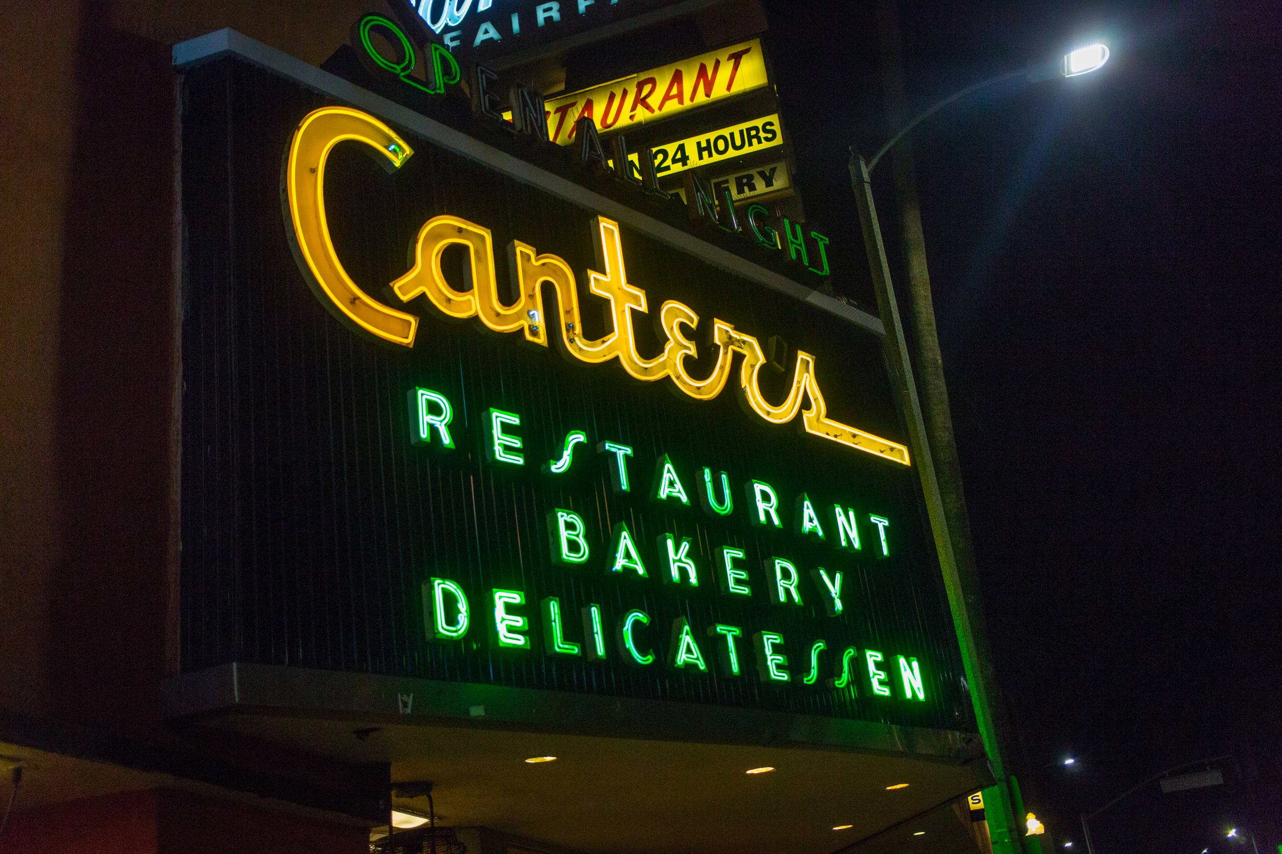 Canter's Delicatessen Sign
