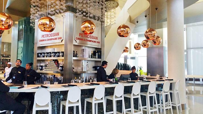 Petrossian Caviar & Champagne Bar at LAX Tom Bradley International Terminal | Photo courtesy of Los Angeles International Airport (LAX), Facebook