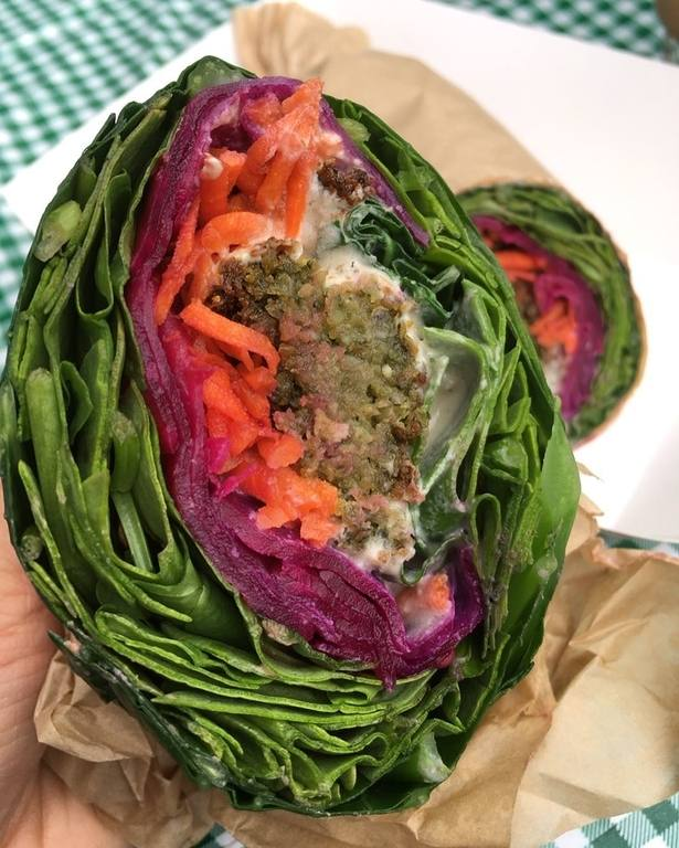 Collard Green Falafel Wrap by Pure Food Organic Kitchen