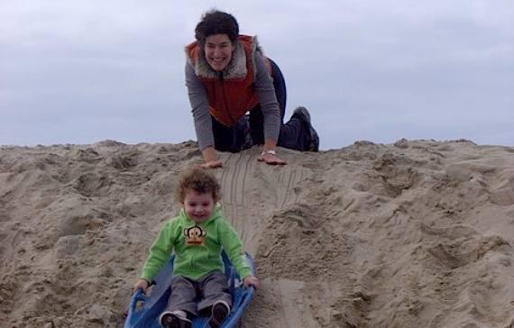 Sand Sledding Venice Beach