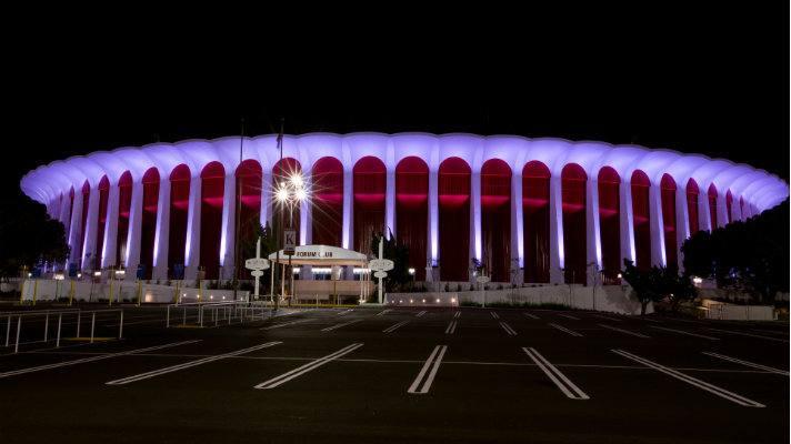 the-forum-exterior-night