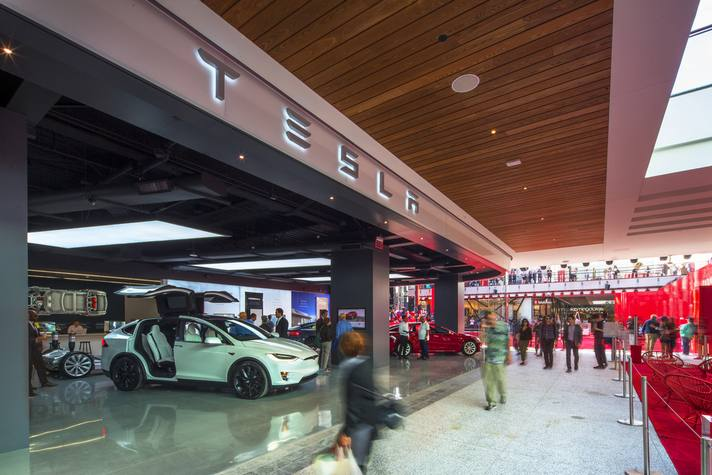 Tesla at Westfield Century City
