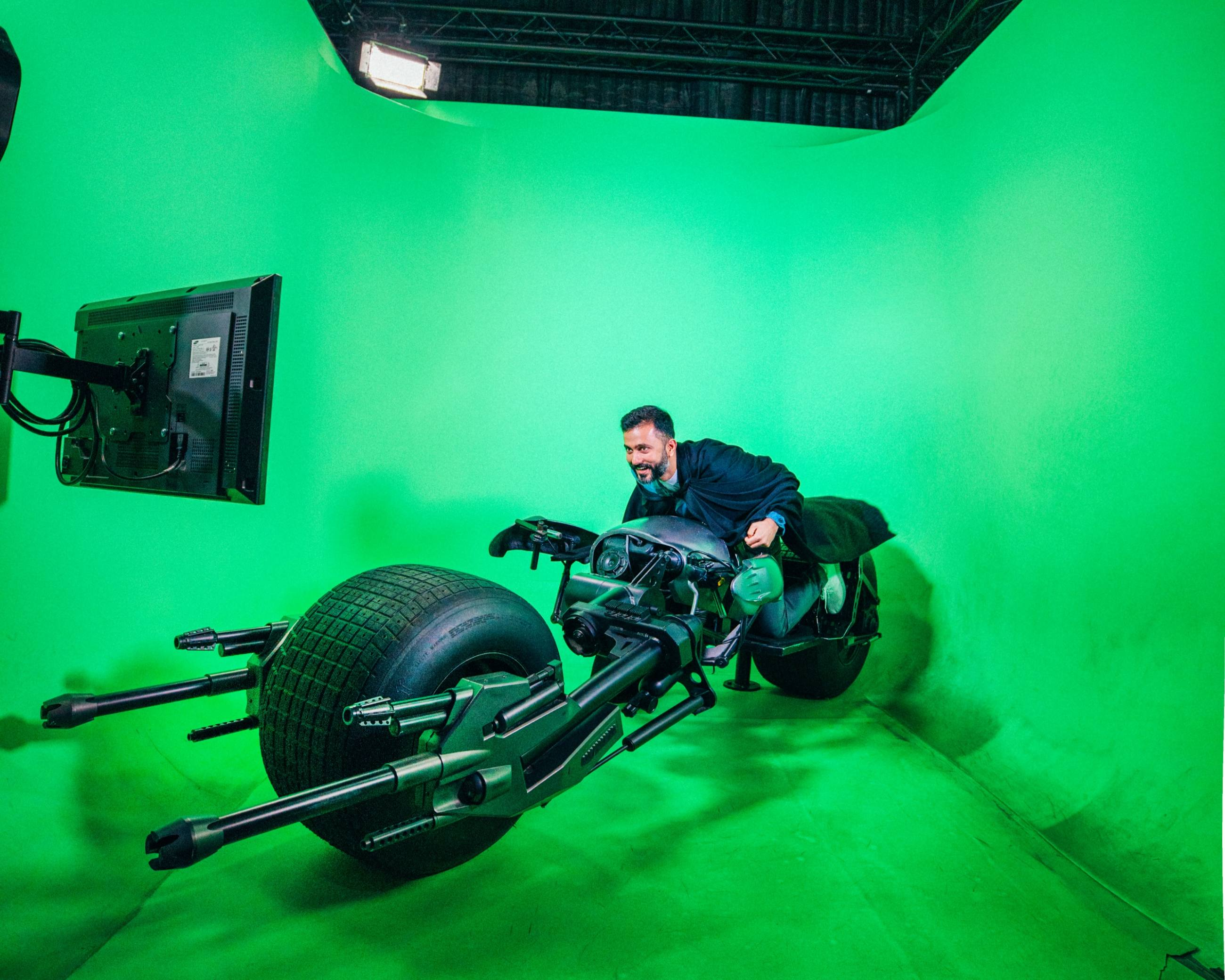 Anand Ahuja on the Batpod at Stage 48: Script to Screen