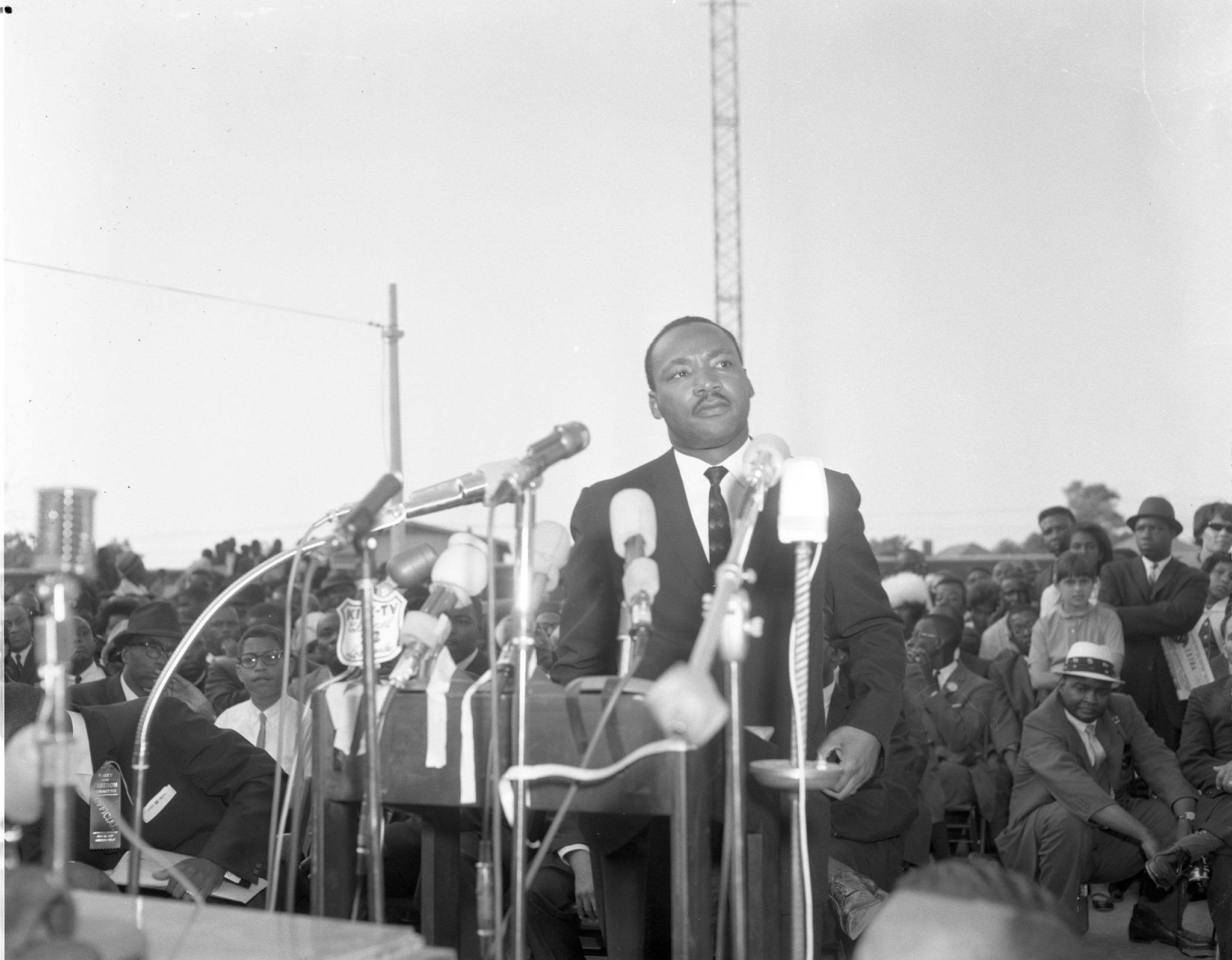 Dr. King at Freedom Rally, Wrigley Field, Los Angeles, May 26, 1963