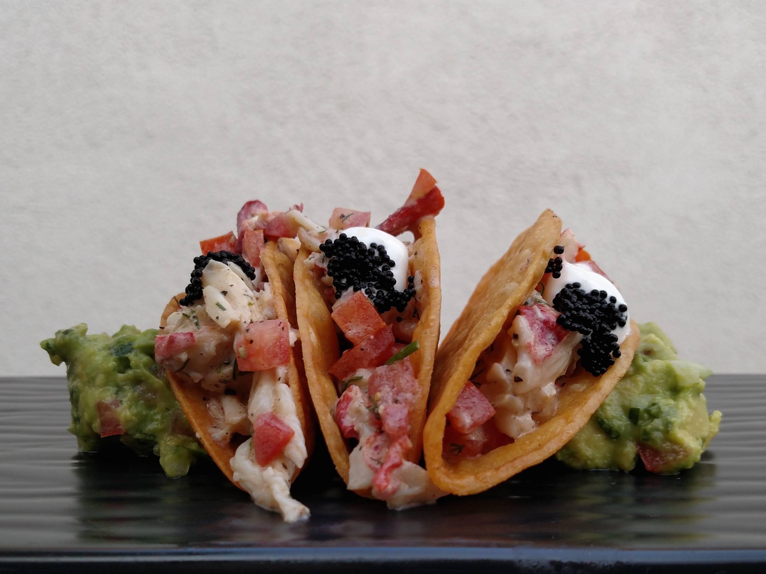 Lobster tacos at Cascabel