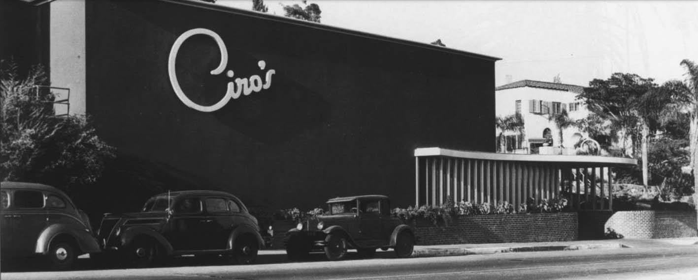 Ciro's on the Sunset Strip circa 1940