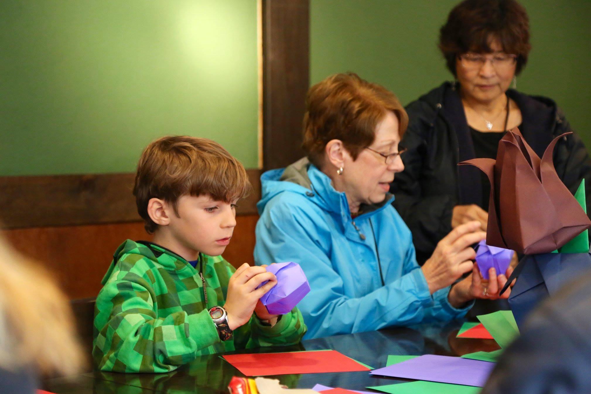 Origami Workshop at Descanso Gardens