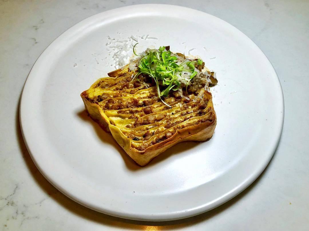 MapoTofu Lasagna at Nightshade