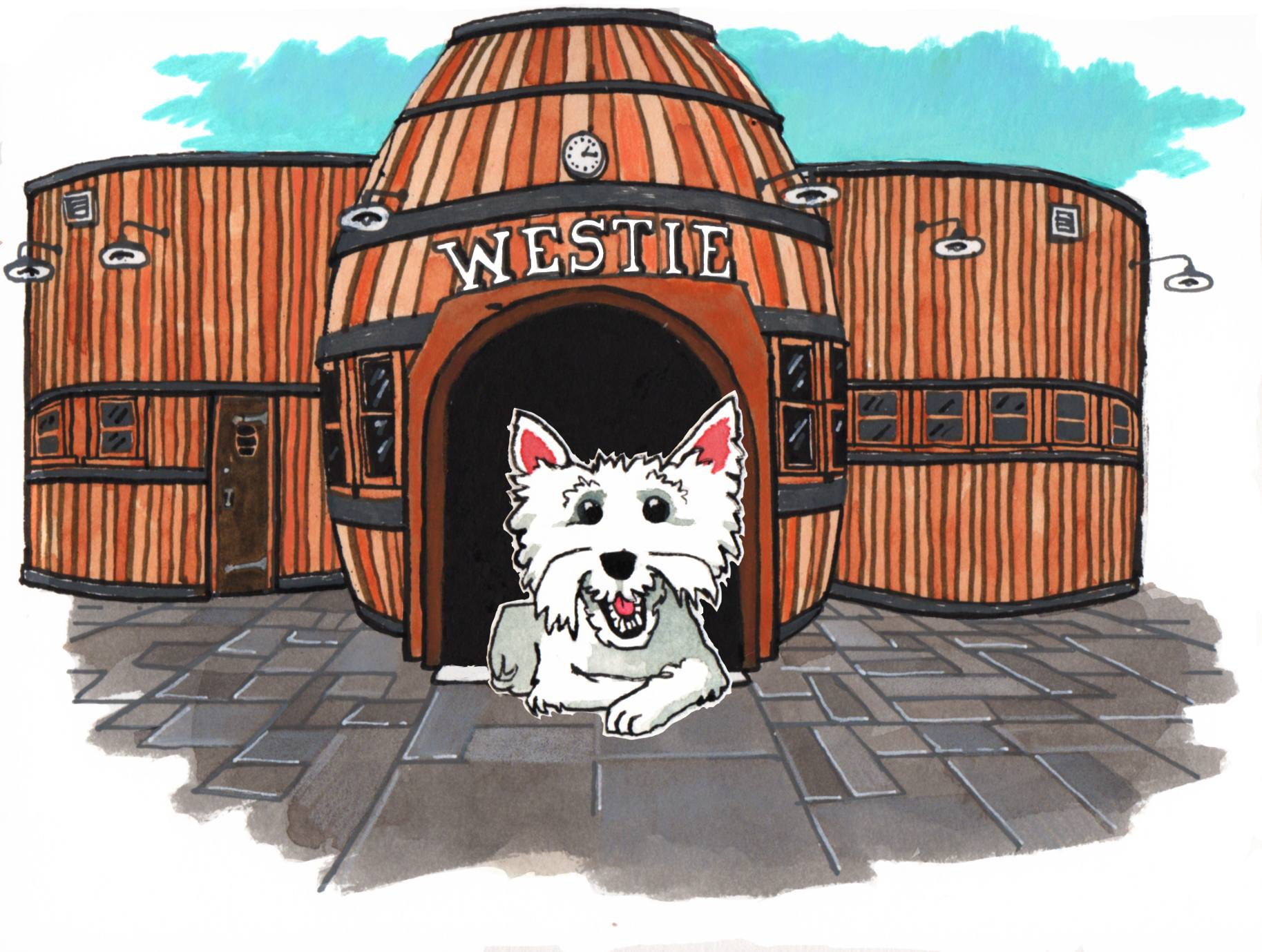 Westie at Idle Hour in North Hollywood | Illustration by Max Kornell