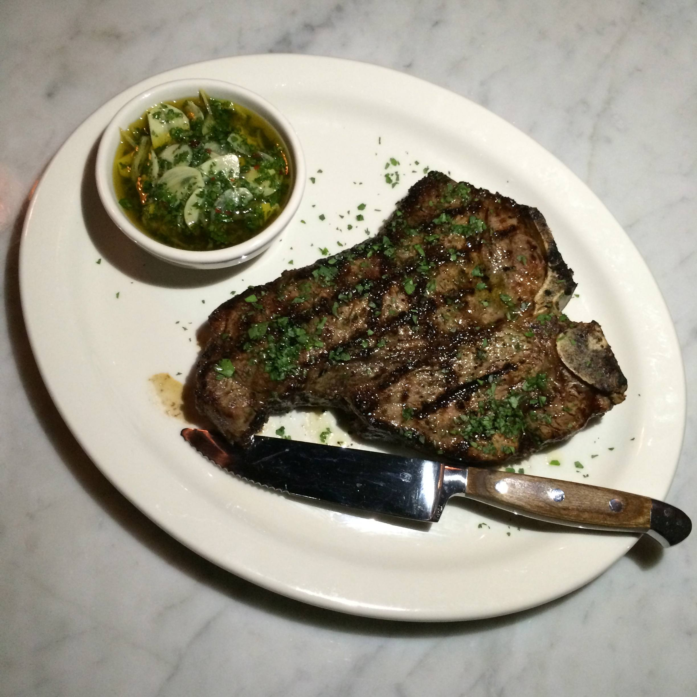 T-bone steak at Scopa Italian Roots