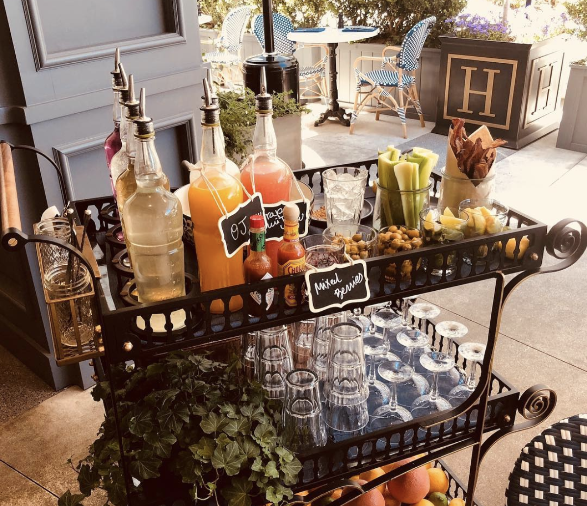 The Henry Bloody Mary Mimosa Cart