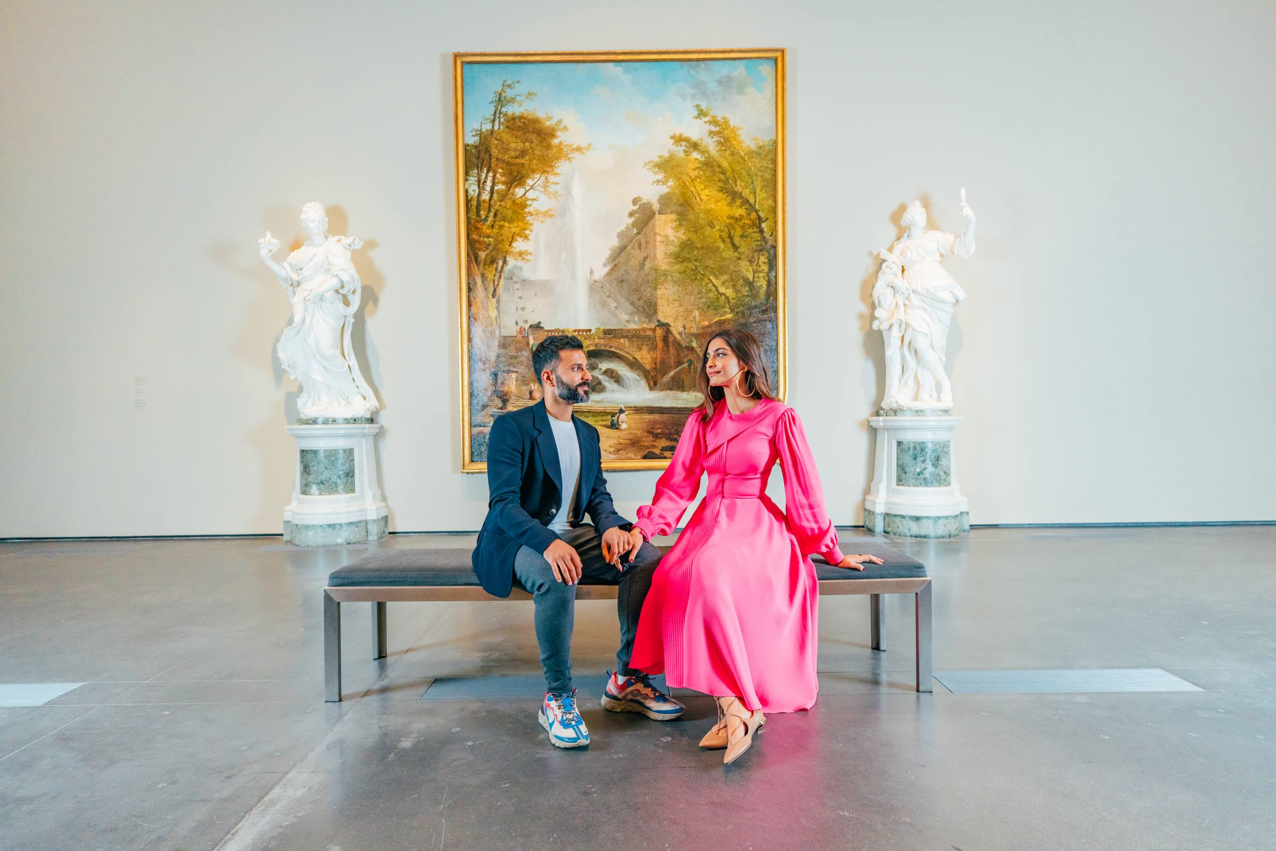 Sonam Kapoor and Anand Ahuja at LACMA