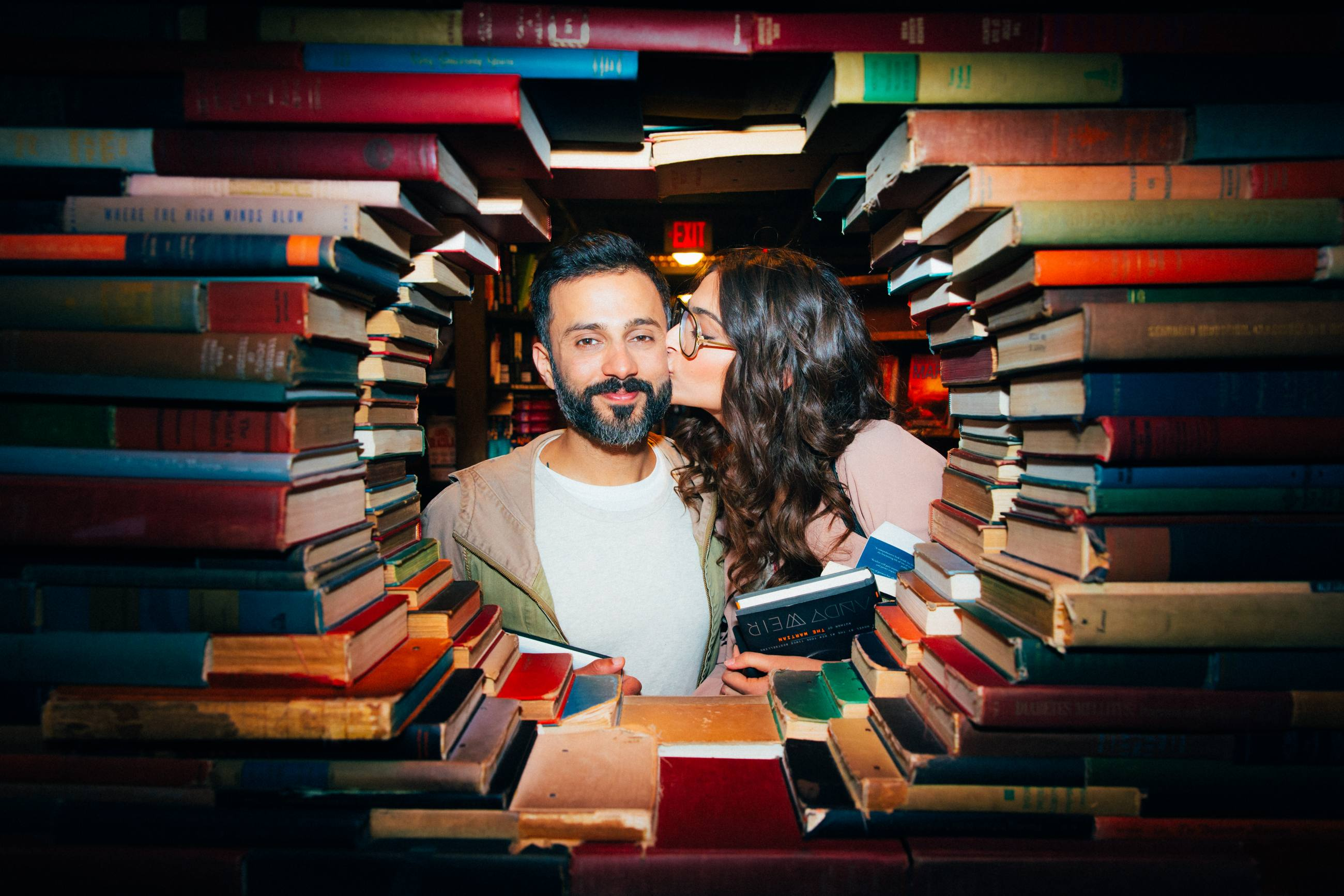 Sonam Kapoor and Anand Ahuja at The Last Bookstore