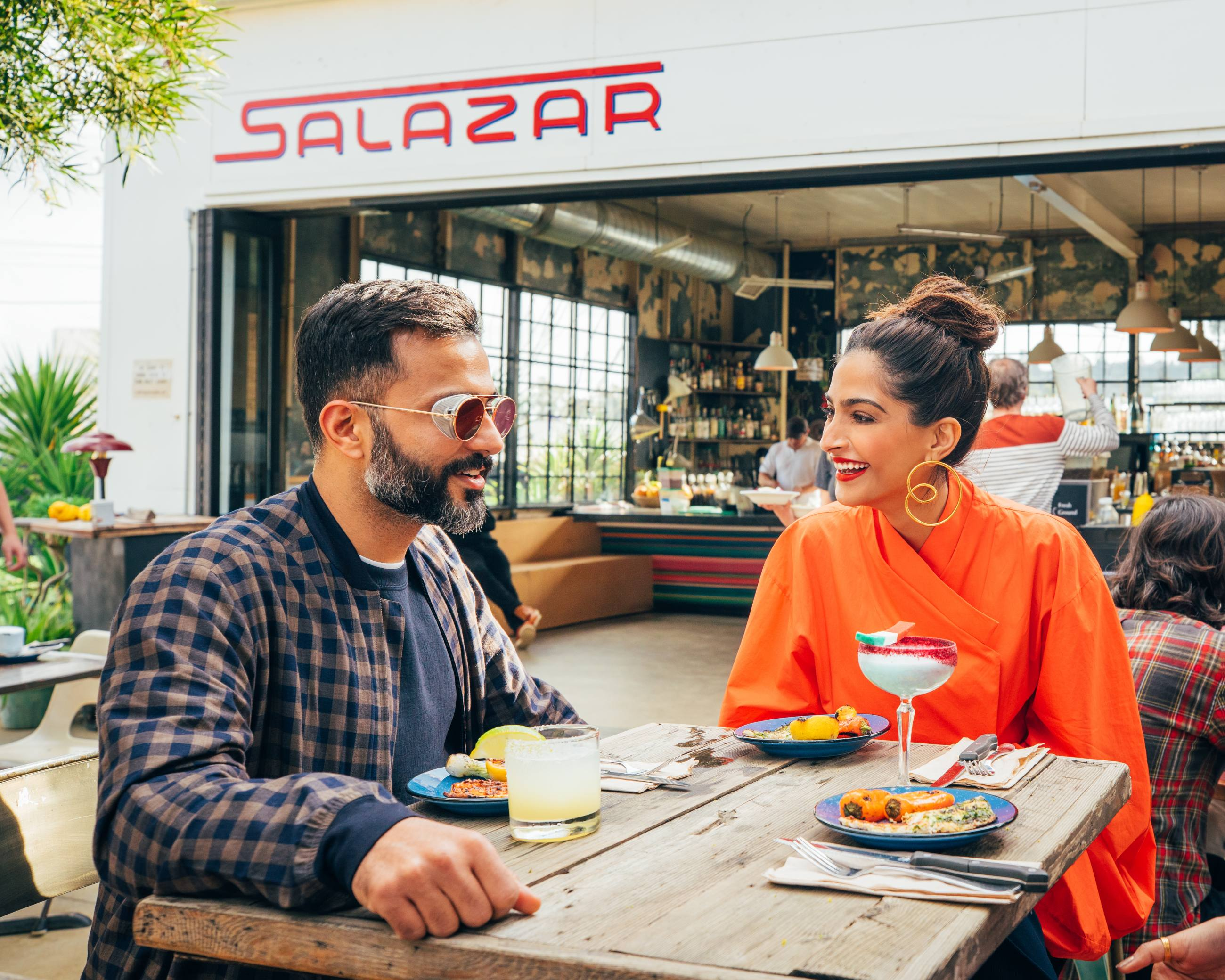 Sonam Kapoor and Anand Ahuja at Salazar