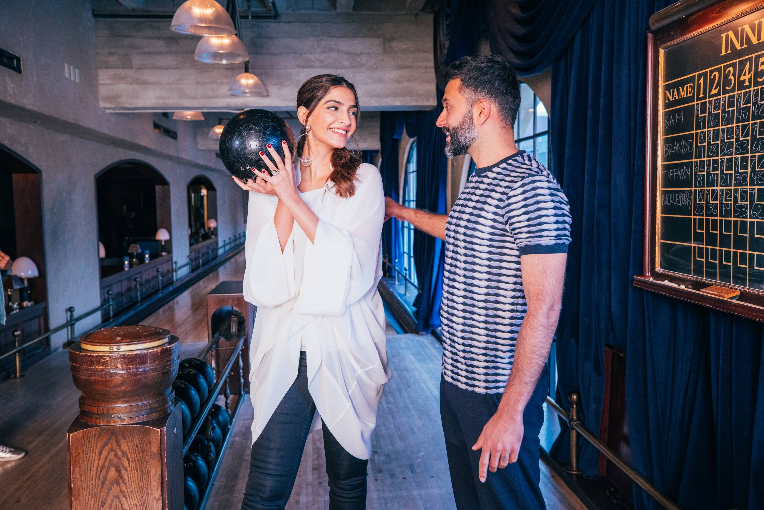 Sonam Kapoor and Anand Ahuja at The Spare Room