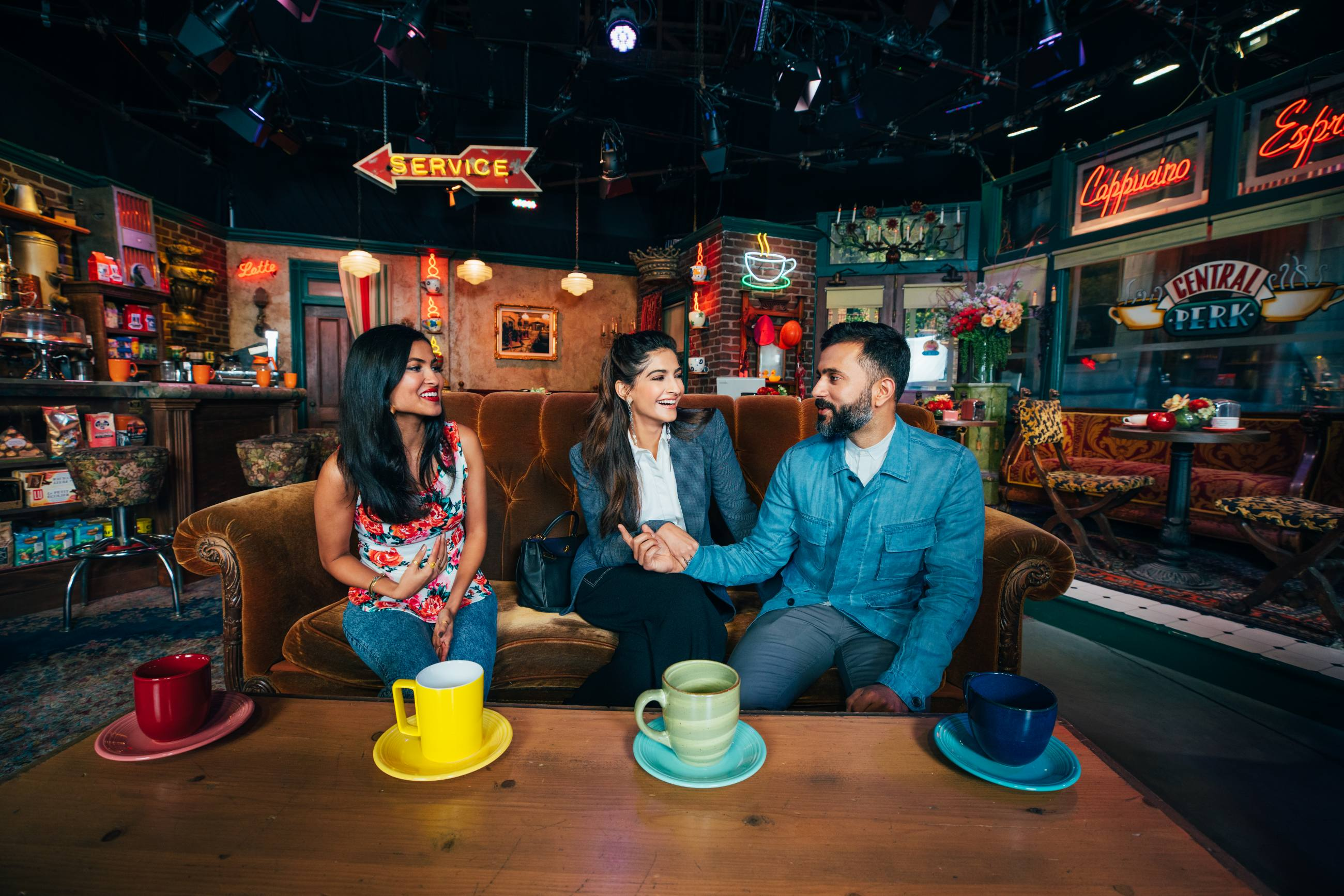 Sonam Kapoor, Anand Ahuja & Vinya Vox at Stage 48
