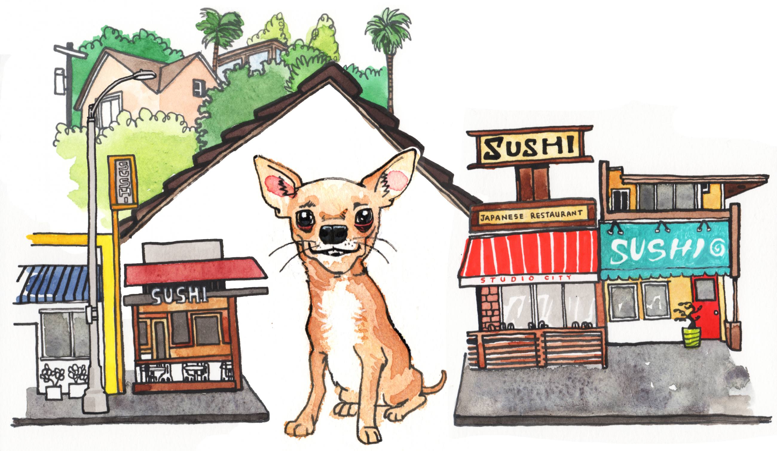 Chihuahua in Studio City | Illustration by Max Kornell