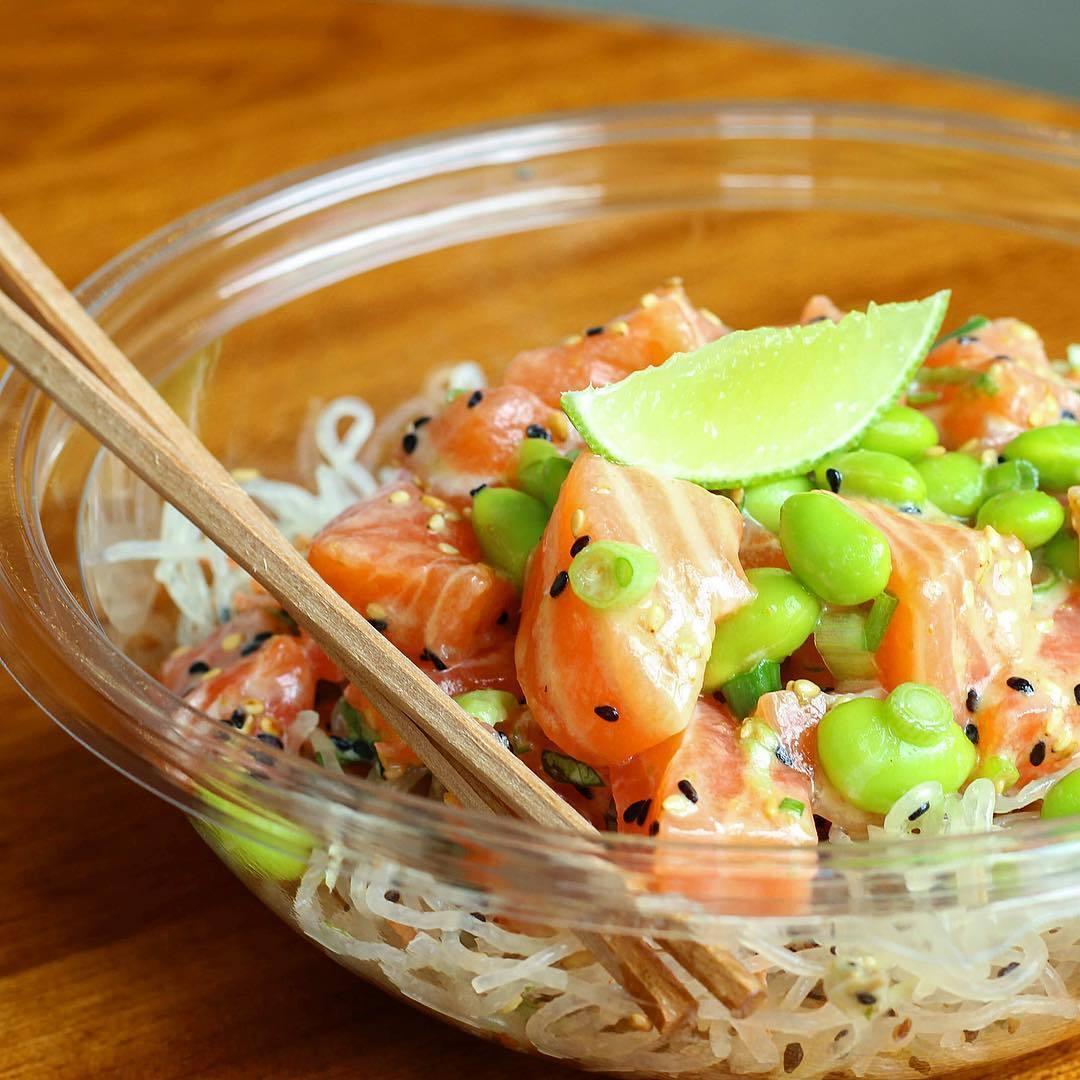 Yuzu Salmon Bowl at Sweetfin Poké
