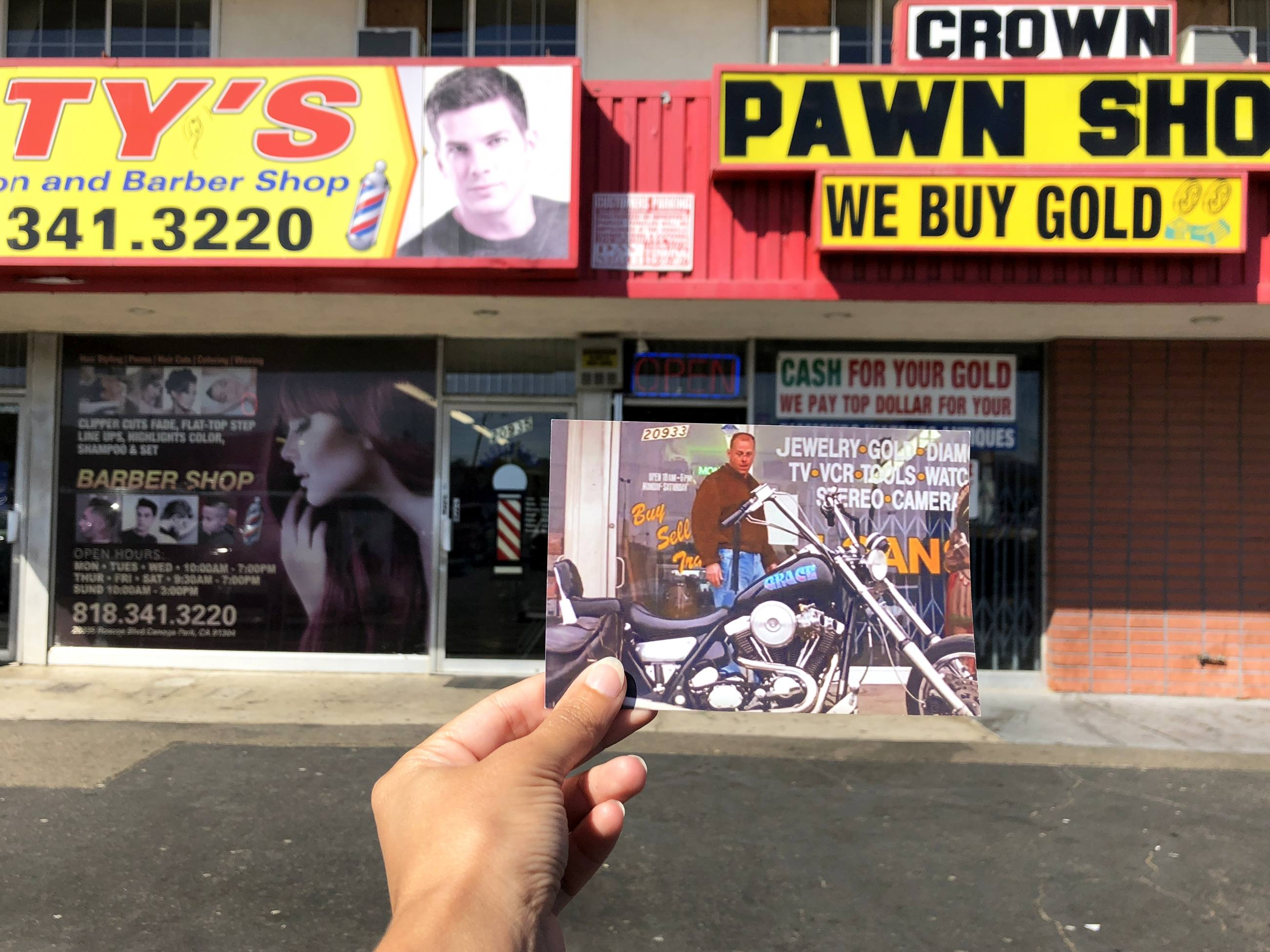 Pulp Fiction Canoga Park Pawn Shop Motorcycle filmtourismus
