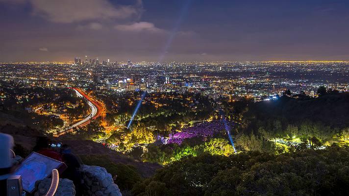 Vista del Hollywood Bowl desde Mulholland Drive
