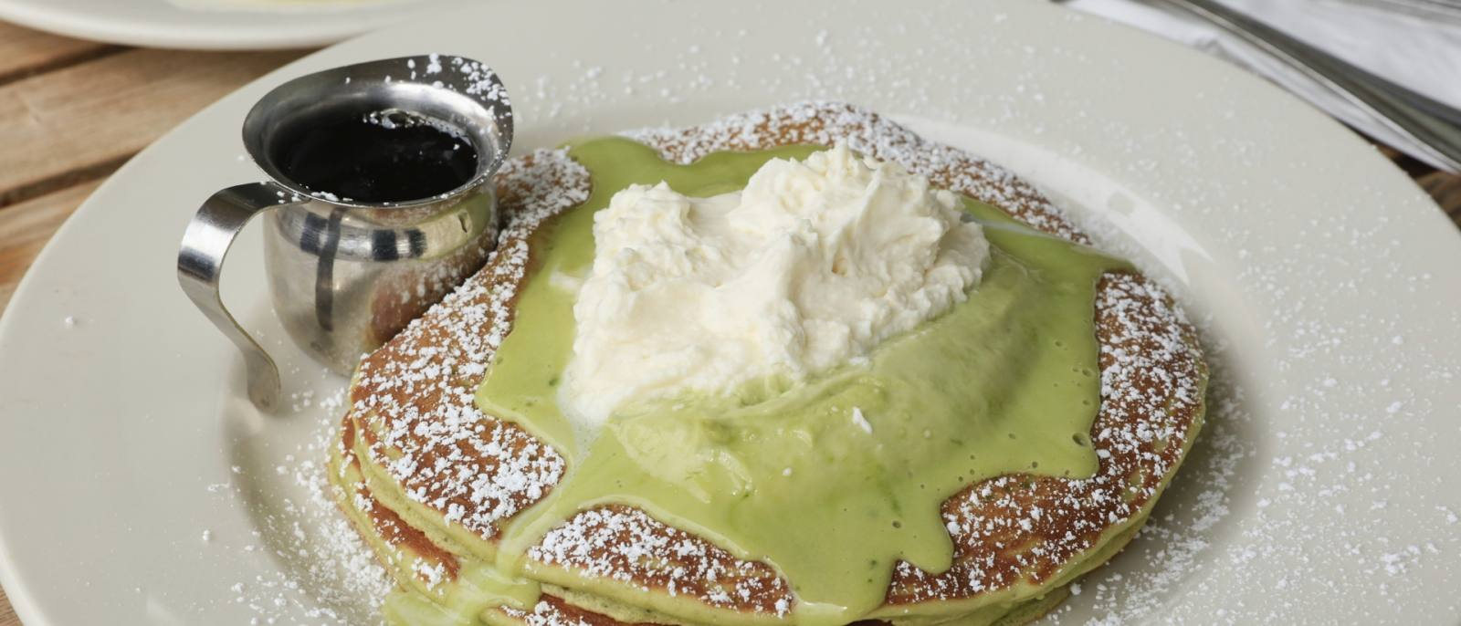 Green Tea Pancakes   |  Photo: Yuri Hasegawa