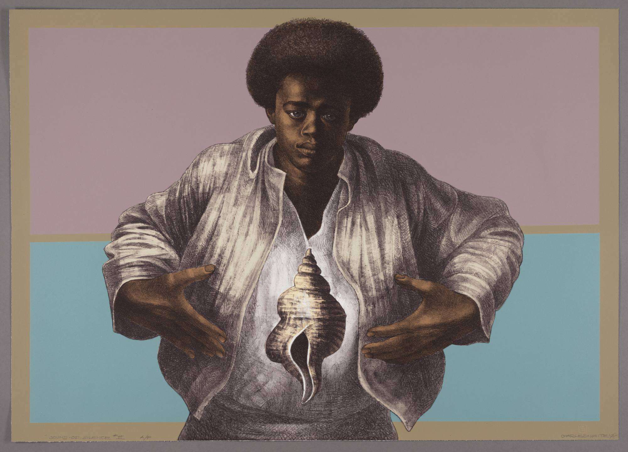 "Charles White, ""Sound of Silence,"" 1978"