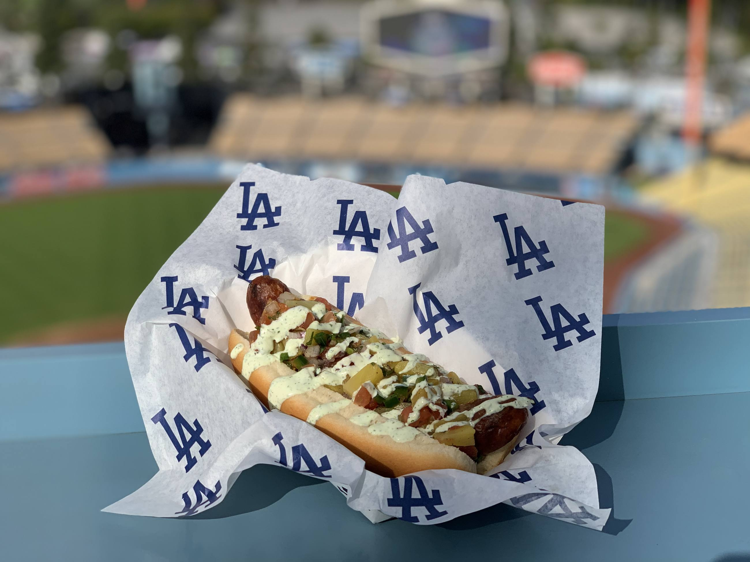 Dodger Sausage at Dodger Stadium