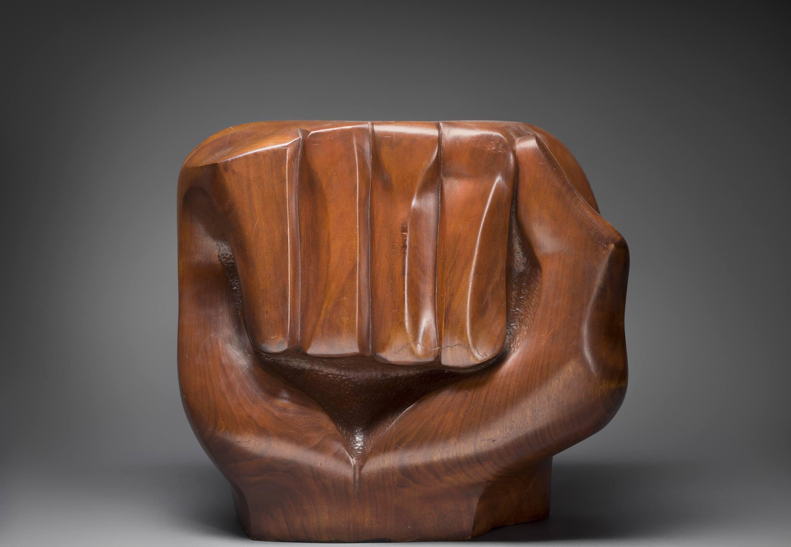 "Elizabeth Catlett, ""Black Unity,"" 1968 (detail)"