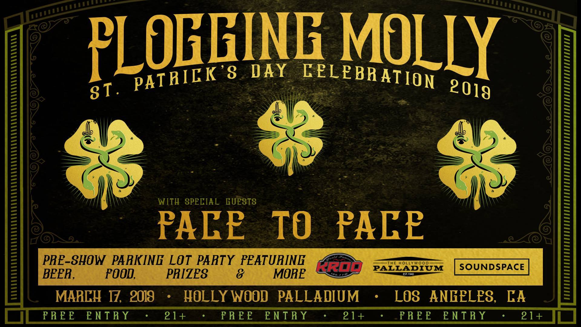 Flogging Molly St.Patrick's Day Block Party at the Hollywood Palladium