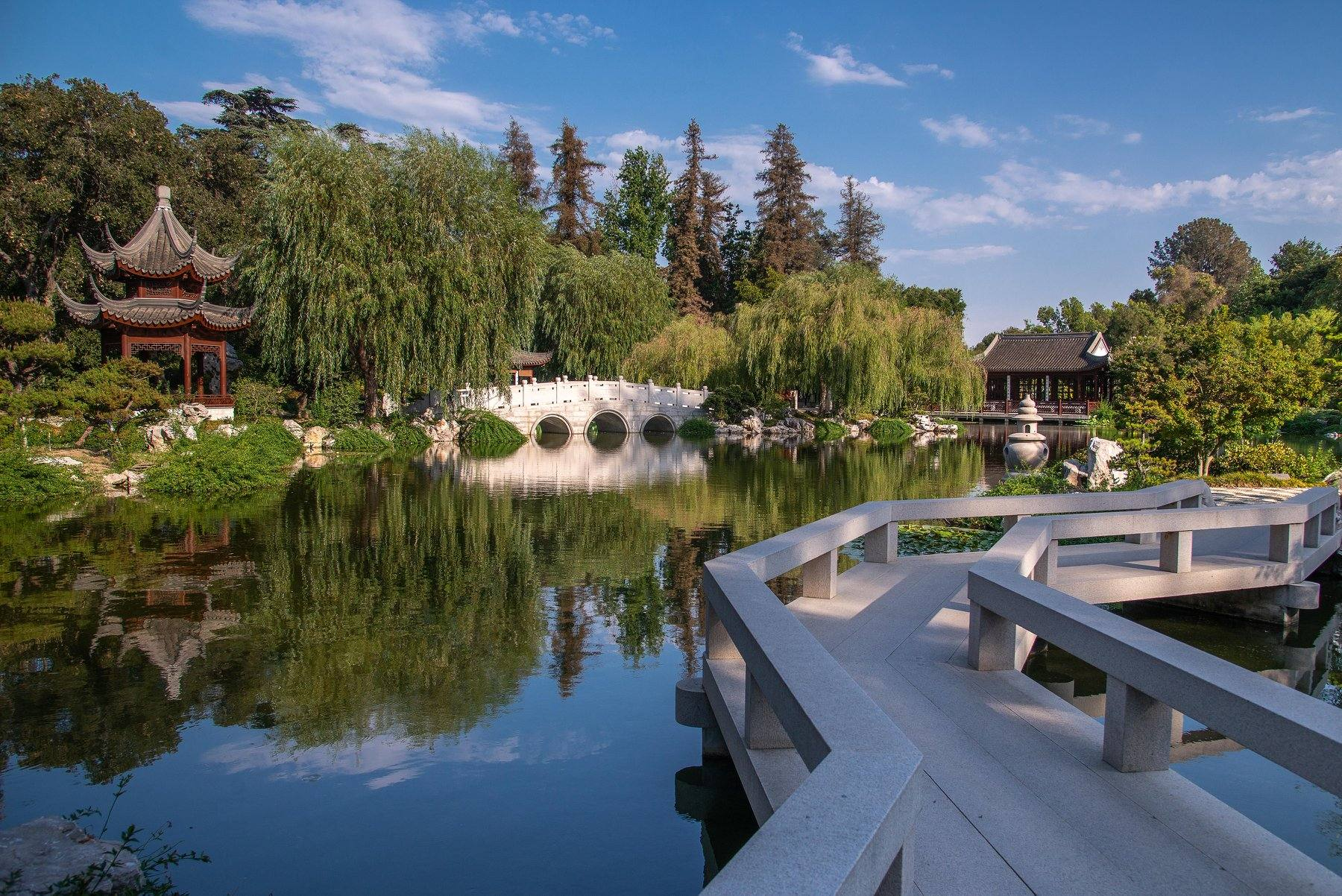 Huntington Library Chinese Garden Pavilion Bridge