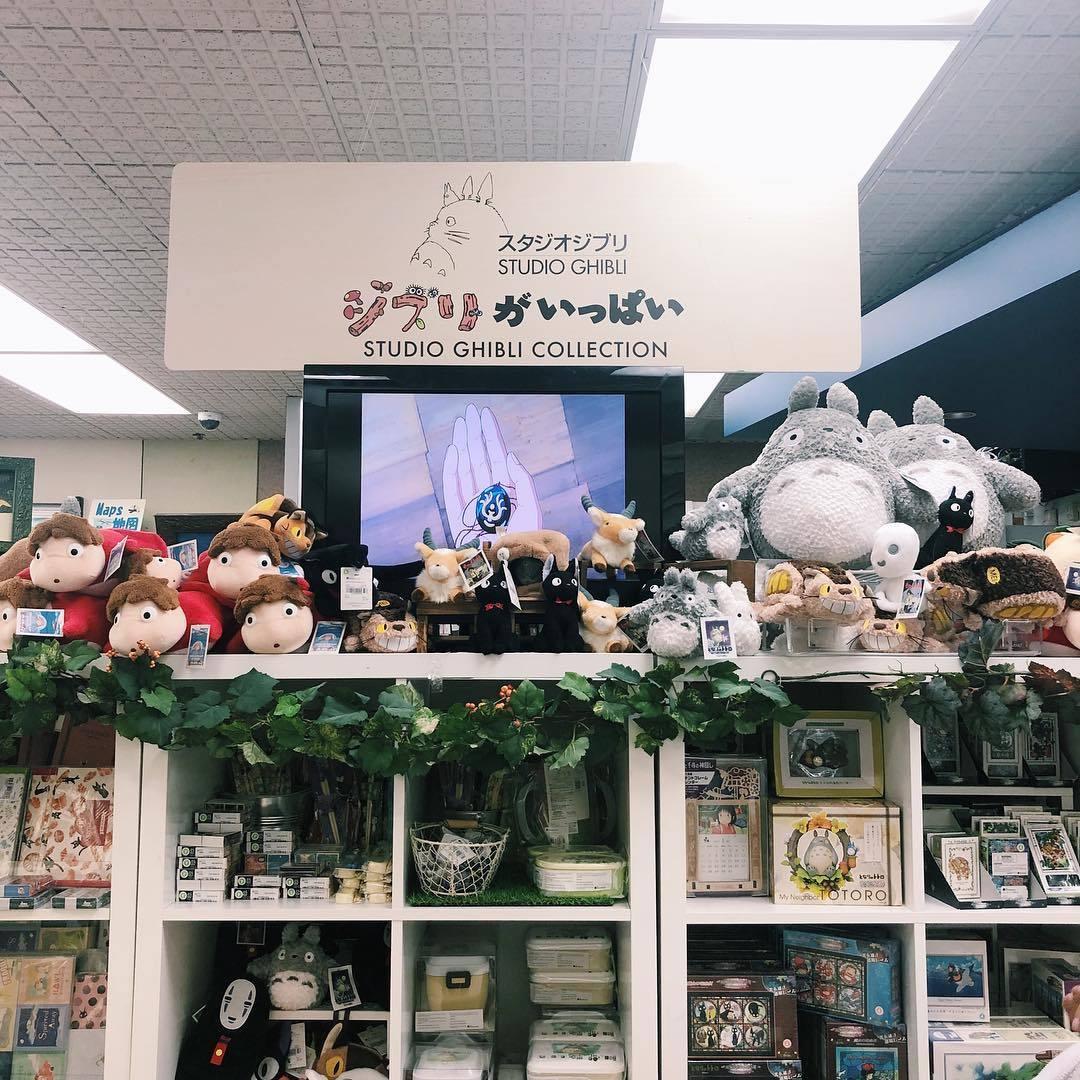 Studio Ghibli collection at Kinokuniya Los Angeles