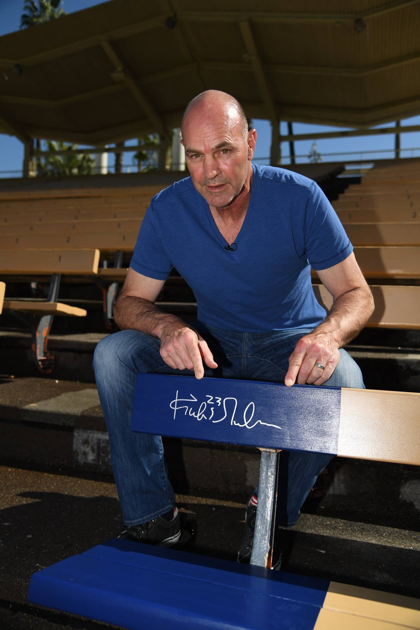 Kirk Gibson and his Home Run Seat at Dodger Stadium