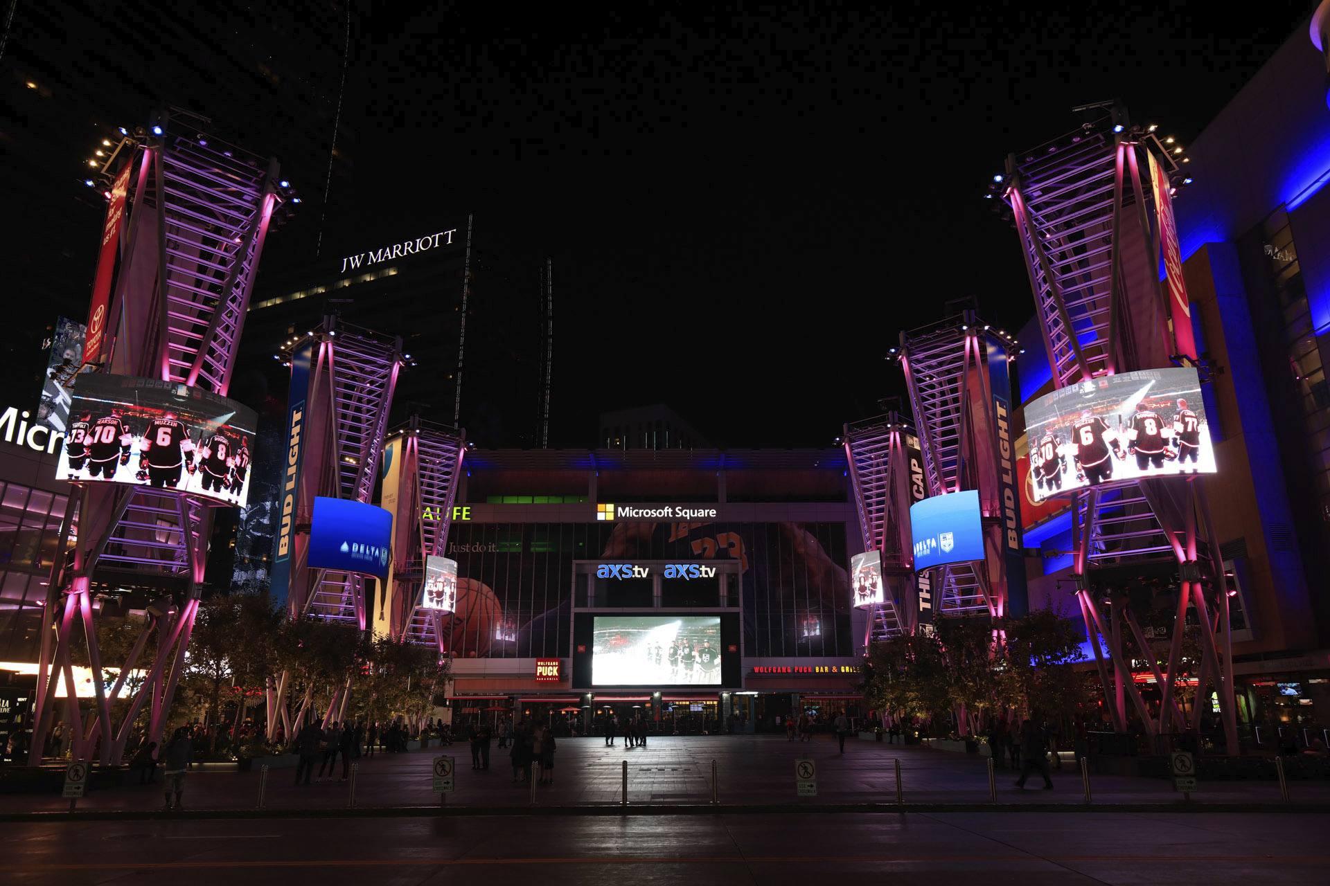 LA Live at Night XBox Plaza