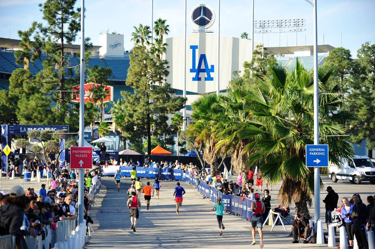 LA BIG 5K Finish Line at Dodger Stadium