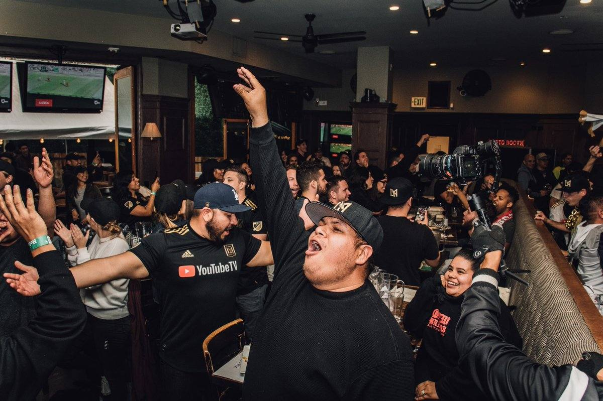 LAFC Bar Partners crowd