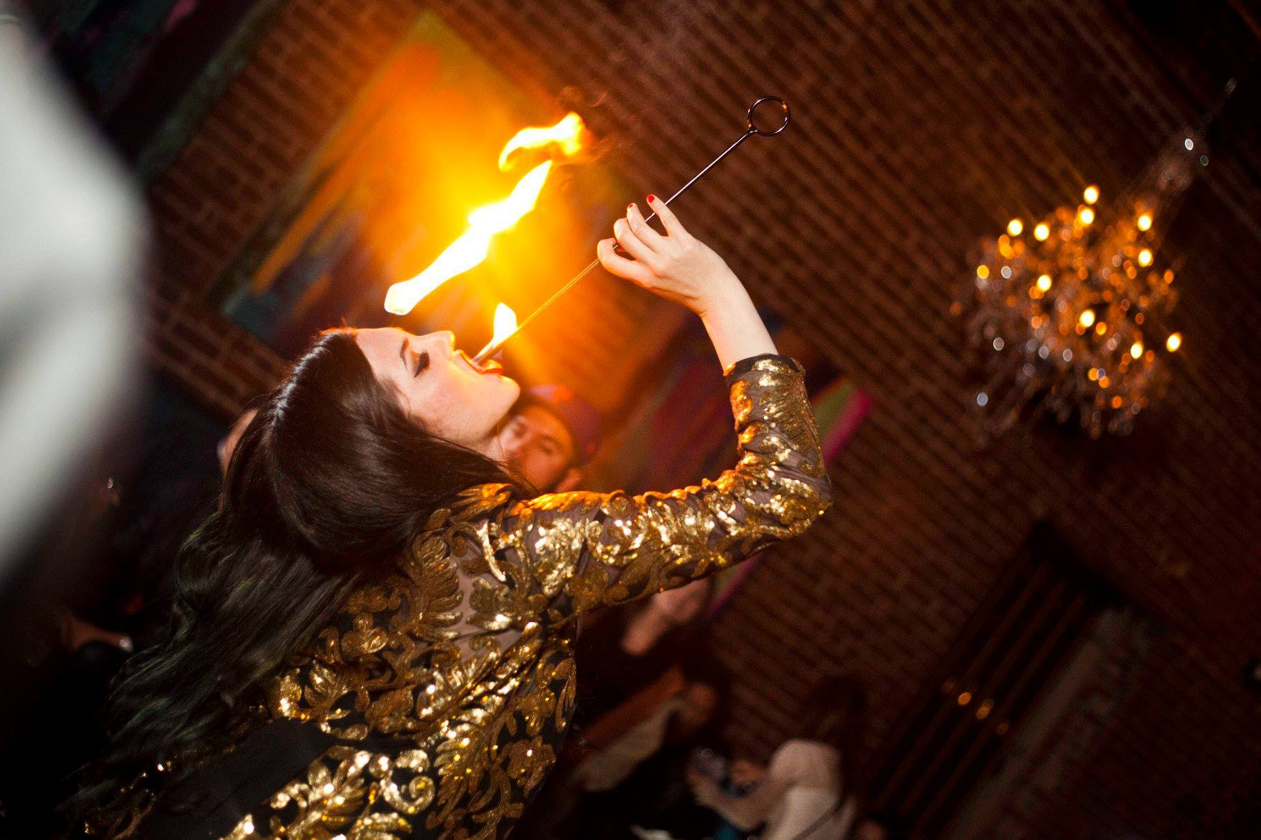 Fire Eater at Mama Lion in Koreatown