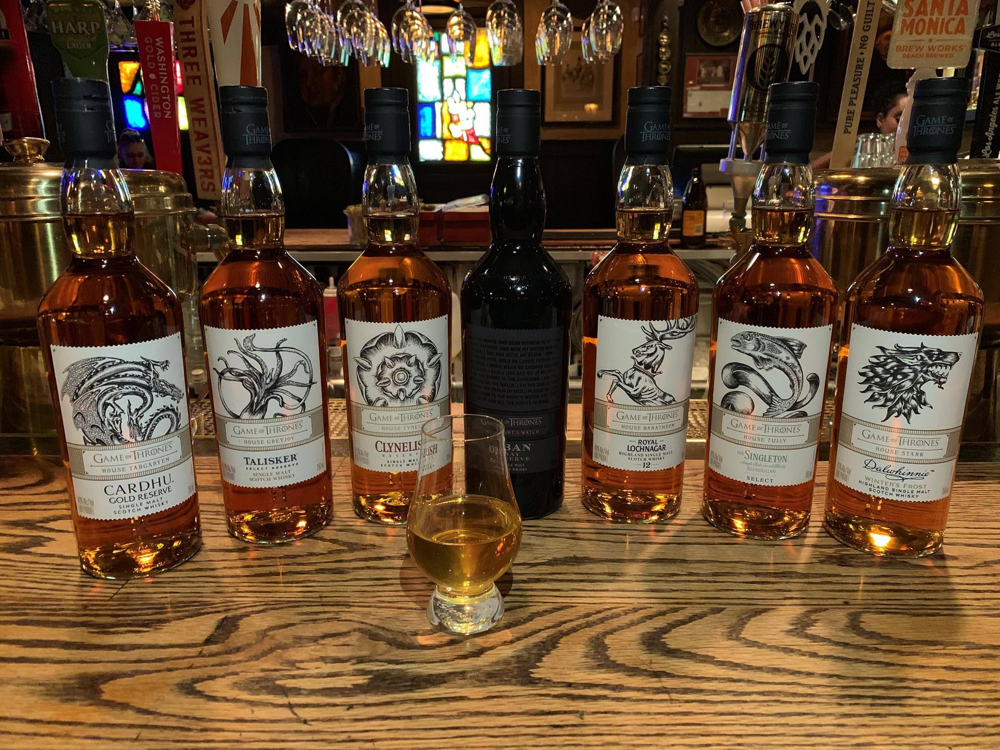 Game of Thrones whiskies at The Tam O'Shanter